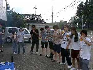 平成16年8月開催バーベキュー